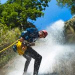 Rappel Down a Waterfall (Canyoning)